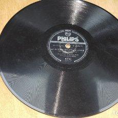 Discos de pizarra: DISCO PHILIPS, LA CANCION DEL MOULIN ROUGE, RAPSODIA SUECA , PERCY FAITH Y SU ORQUESTA, B 21052 H. Lote 178651305