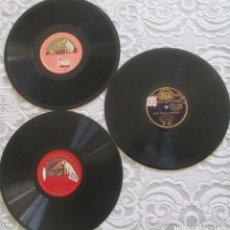 Discos de pizarra: TRES DISCOS GRAMÓFONO, DOS UNA CARA Y UNO DOBLE: MANON POR GIOVANNI MAC CORMACK; GERMANIA POR CARUSO. Lote 178689336