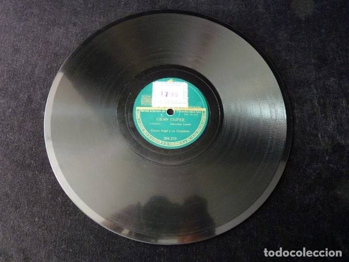 Discos de pizarra: CASAS AUGÉ Y SU ORQUESTA. GRAN CLIPER. SELECCIÓN I y II. ODEON 204273 - Foto 4 - 178809351