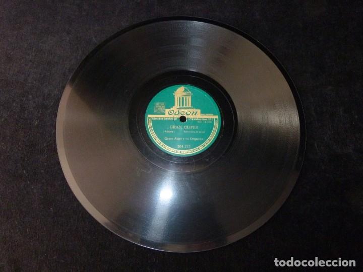 Discos de pizarra: CASAS AUGÉ Y SU ORQUESTA. GRAN CLIPER. SELECCIÓN I y II. ODEON 204273 - Foto 2 - 178809351