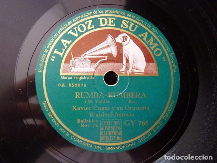 XAVIER CUGAT Y SU ORQUESTA WALDORF-ASTORIA. NUEVA CONGA. RUMBA RUMBERA. LA VOZ DE SU AMO GY766 (Música - Discos - Pizarra - Otros estilos)