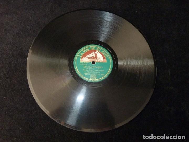 Discos de pizarra: XAVIER CUGAT Y SU ORQUESTA WALDORF-ASTORIA. NUEVA CONGA. RUMBA RUMBERA. LA VOZ DE SU AMO GY766 - Foto 2 - 178811638