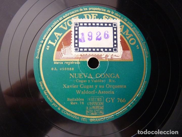 Discos de pizarra: XAVIER CUGAT Y SU ORQUESTA WALDORF-ASTORIA. NUEVA CONGA. RUMBA RUMBERA. LA VOZ DE SU AMO GY766 - Foto 3 - 178811638
