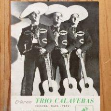 Discos de pizarra: LOTE TRIO CALAVERAS DISCO PIZARRA PLEGARIA GUADALUPANA PAJARO CU Y CATALOGO DISCOS 1948. Lote 179023250