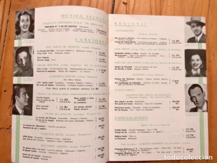 Discos de pizarra: LOTE TRIO CALAVERAS DISCO PIZARRA PLEGARIA GUADALUPANA PAJARO CU Y CATALOGO DISCOS 1948 - Foto 2 - 179023250