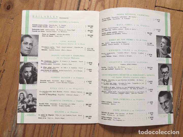 Discos de pizarra: LOTE TRIO CALAVERAS DISCO PIZARRA PLEGARIA GUADALUPANA PAJARO CU Y CATALOGO DISCOS 1948 - Foto 4 - 179023250
