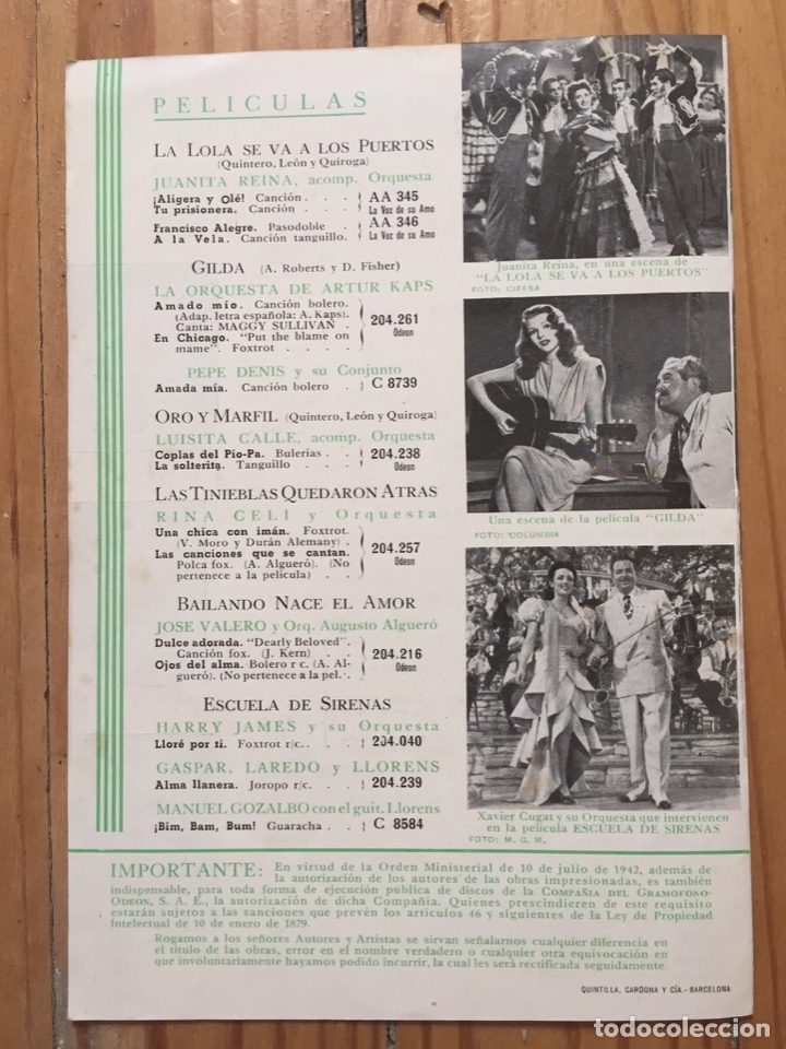 Discos de pizarra: LOTE TRIO CALAVERAS DISCO PIZARRA PLEGARIA GUADALUPANA PAJARO CU Y CATALOGO DISCOS 1948 - Foto 5 - 179023250