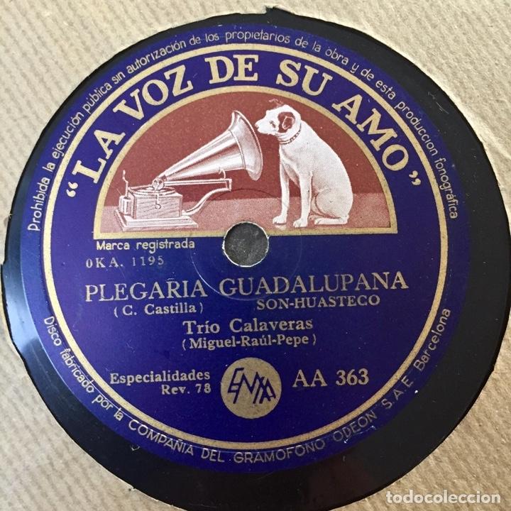 Discos de pizarra: LOTE TRIO CALAVERAS DISCO PIZARRA PLEGARIA GUADALUPANA PAJARO CU Y CATALOGO DISCOS 1948 - Foto 6 - 179023250