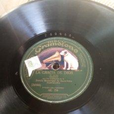 Discos de pizarra: DISCO GRAMÓFONO.LA GRACIA DE DIOS.. Lote 179254768