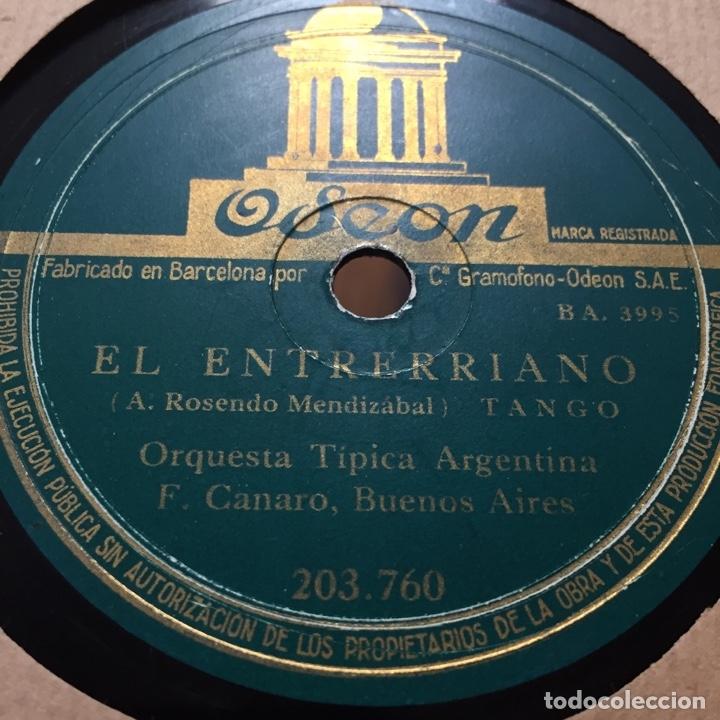 Discos de pizarra: ORQUESTA TIPICA ARGENTINA EL ENTRERRIANO LA CUMPARSITA TANGO - Foto 2 - 179313332