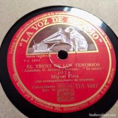 Discos de pizarra: MIGUEL FLETA EL TRUST DE LOS TENORES TOSCA JOTA. Lote 179317736