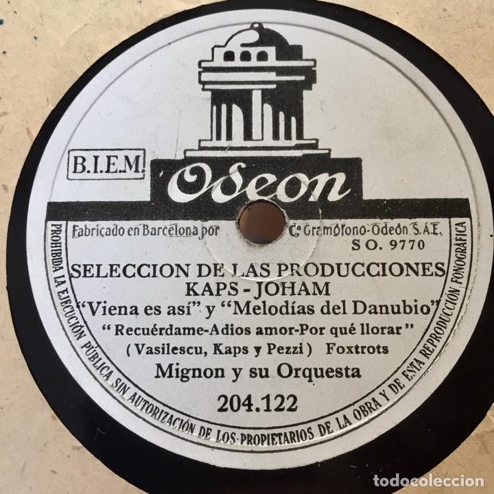 MIGNON Y SU ORQUESTA SELECCION DE LAS PRODUCCIONES KAPS JOHAM (Música - Discos - Pizarra - Solistas Melódicos y Bailables)