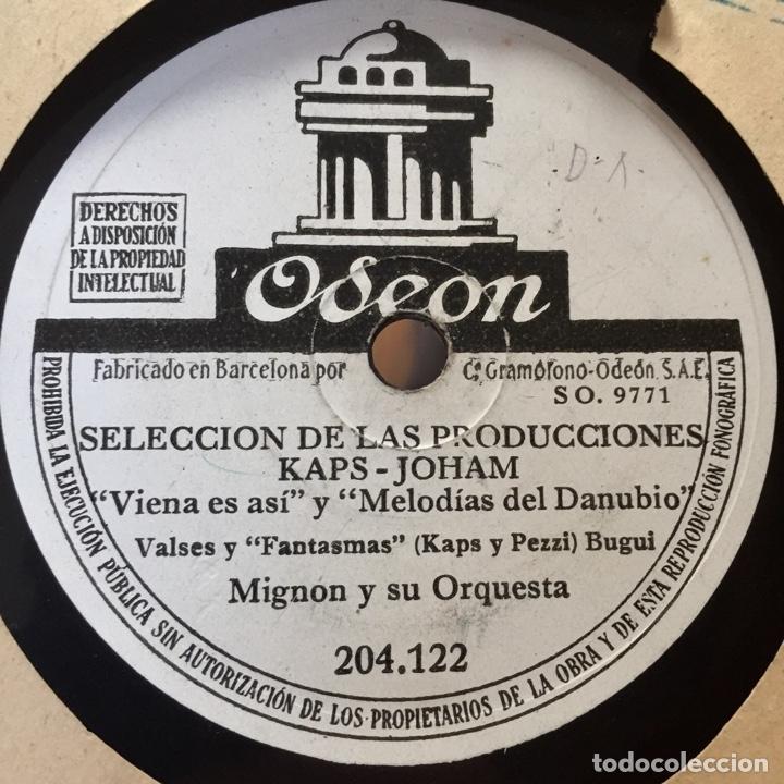 Discos de pizarra: MIGNON Y SU ORQUESTA SELECCION DE LAS PRODUCCIONES KAPS JOHAM - Foto 2 - 179318233