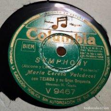 Discos de pizarra: MARIA TERESA VALCARCEL SYMPHONY LOS ULTIMOS DE FILIPINAS. Lote 179318561