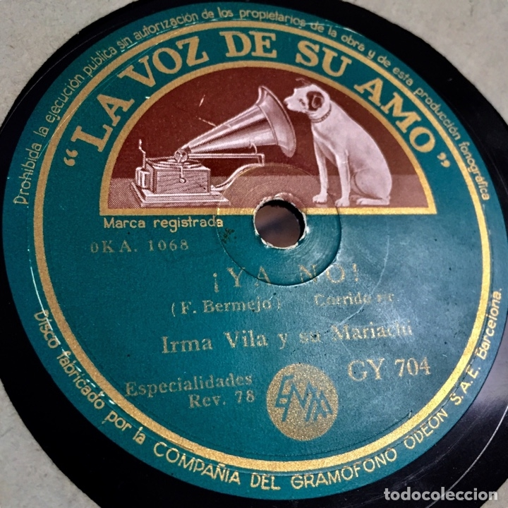 Discos de pizarra: IRMA VILA Y SU MARIACHI LA MALAGUEÑA YA NO - Foto 2 - 179377811