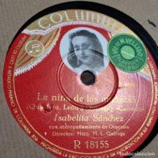 Discos de pizarra: ISABELITA SANCHEZ LA NIÑA DE LAS MUÑECAS LOS DUENDES DE SEVILLA. Lote 179378175