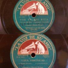 Discos de pizarra: PIZARRA !! 25 CM / ORQUESTA MAREK WEBER / POR TI, RIO RITA / VAYA VERÓNICAS / BUENA CALIDAD.. Lote 179389383