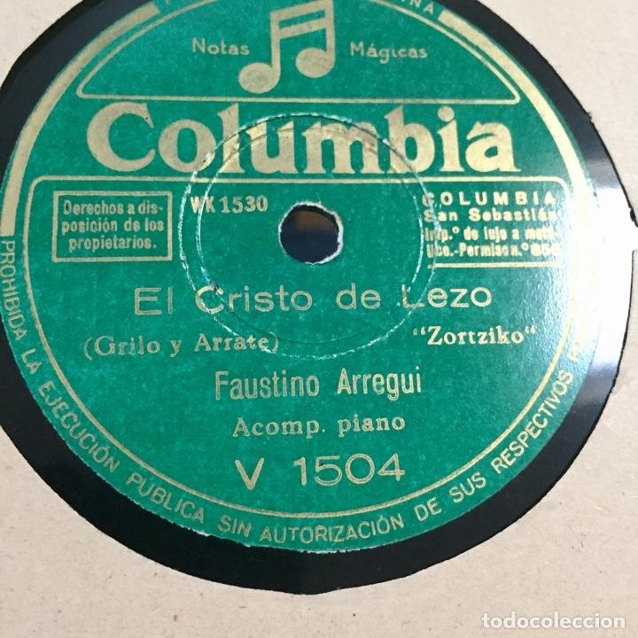 FAUSTINO ARREGUI LA DEL PAÑUELO ROJO EL CRISTO DE LEZO ZORTZIKOS (Música - Discos - Pizarra - Otros estilos)