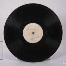 Discos de pizarra: DISCO DE PIEDRA/PIZARRA - CUPLETISTA DOMEDEL - NERVIOSIDADES / CANCION GITANA. Lote 180003437