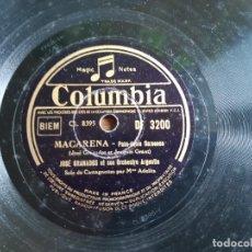 Discos de pizarra: ANTIGUO DISCO DE PIZARRA DE JOSE GRANADOS MACARENA Y NOCHE DE TRIANA. Lote 180469723