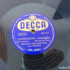 Discos de pizarra: DISCO DE PIZARRA , CANDILEJAS , CANDILEJAS , FRANCK CHACKSFIELD. Lote 180715623