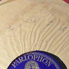 Discos de pizarra: BANDA PARLOPHON PASODOBLE , LA MACARENA LUIS MORCILLO Y P. MARQUINA . Lote 180972590