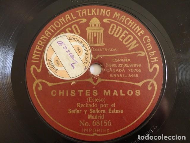 LUIS ESTESO, LUISA ESTESO - CHISTES MALOS / RIÑA GITANA - ODEON 68156, 68157 (Música - Discos - Pizarra - Bandas Sonoras y Actores )