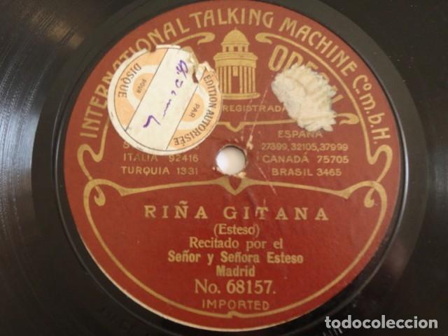 Discos de pizarra: Luis Esteso, Luisa Esteso - Chistes malos / Riña gitana - Odeon 68156, 68157 - Foto 2 - 181180421