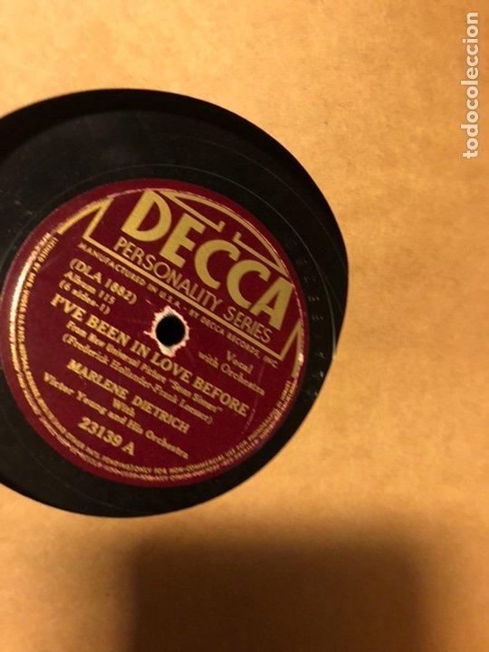 Discos de pizarra: Album de 3 discos de pizarra de 78 rpm gramófono de marlene dietrich - Foto 3 - 63415192