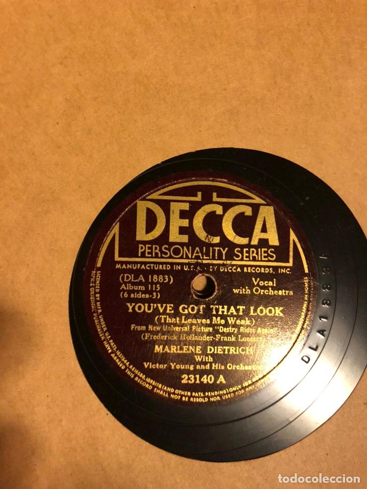 Discos de pizarra: Album de 3 discos de pizarra de 78 rpm gramófono de marlene dietrich - Foto 6 - 63415192
