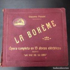 Discos de pizarra: COLECCIÓN DE DISCOS PIZARRAS - LA BOHEME 13 DISCOS. Lote 181916926