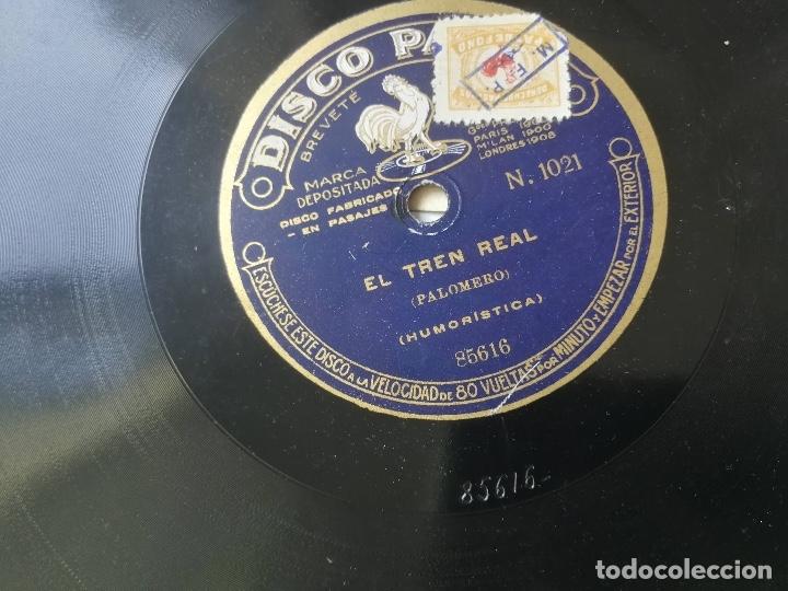 Discos de pizarra: ANTIGUO DISCO DE PIZARRA DE PATHÉ - LA CORRIDA DE TOROS DE F. PALOMERO RECITADO Y EL TREN REAL - DIS - Foto 3 - 182105911