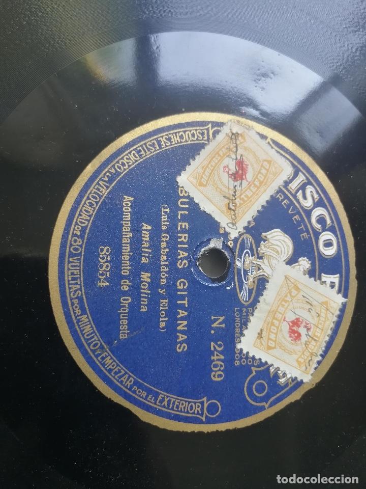 Discos de pizarra: ANTIGUO DISCO DE PIZARRA DE PATHÉ - EL MAÑICO Y LOS GUITARRICOS DE JUAN SAÑÉ Y JUAN RIBÉ Y BULERIAS - Foto 3 - 182106295