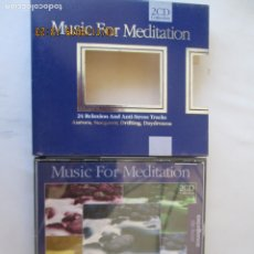 Discos de pizarra: MUSIC FOR MEDITATION - 24 RELAXION AND ANTI-STRESS TRACKS 2 CD COLLECTION . Lote 182130840