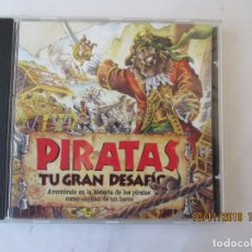Discos de pizarra: JUEGO PC PIRATAS TU GRAN DESAFÍO SIMULADOR BARCO PIRATA ZETA MULTIMEDIA DISCOVERY CHANNEL MULTIMEDIA. Lote 182130956
