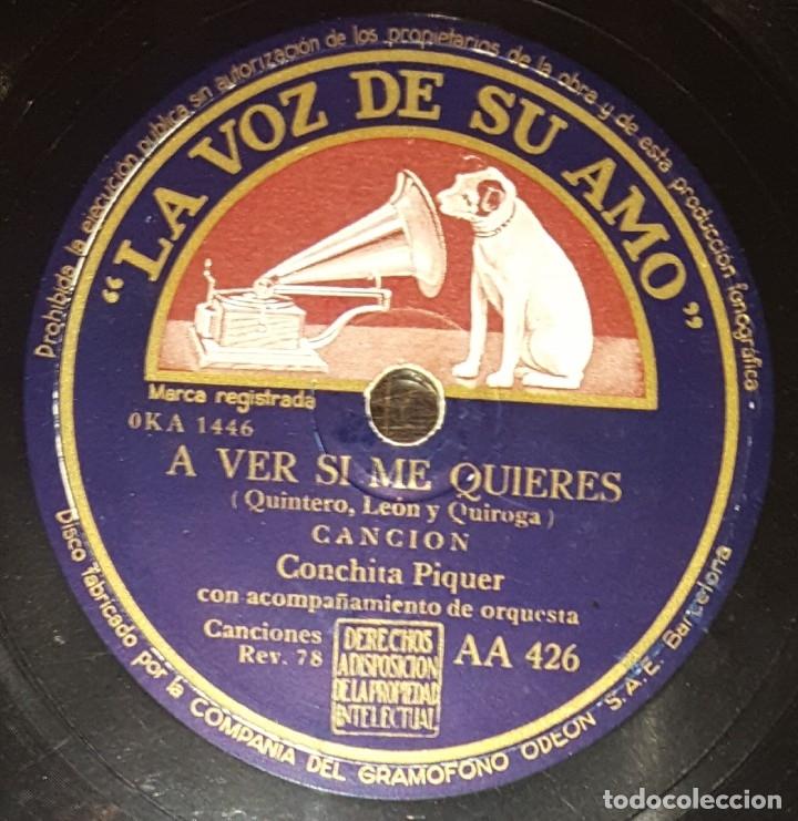 Discos de pizarra: DISCO 78 RPM - VSA - CONCHITA PIQUER - FARRUCA - QUIERO UN PAÑOLITO - A VER SI ME QUIERES - PIZARRA - Foto 2 - 182257473