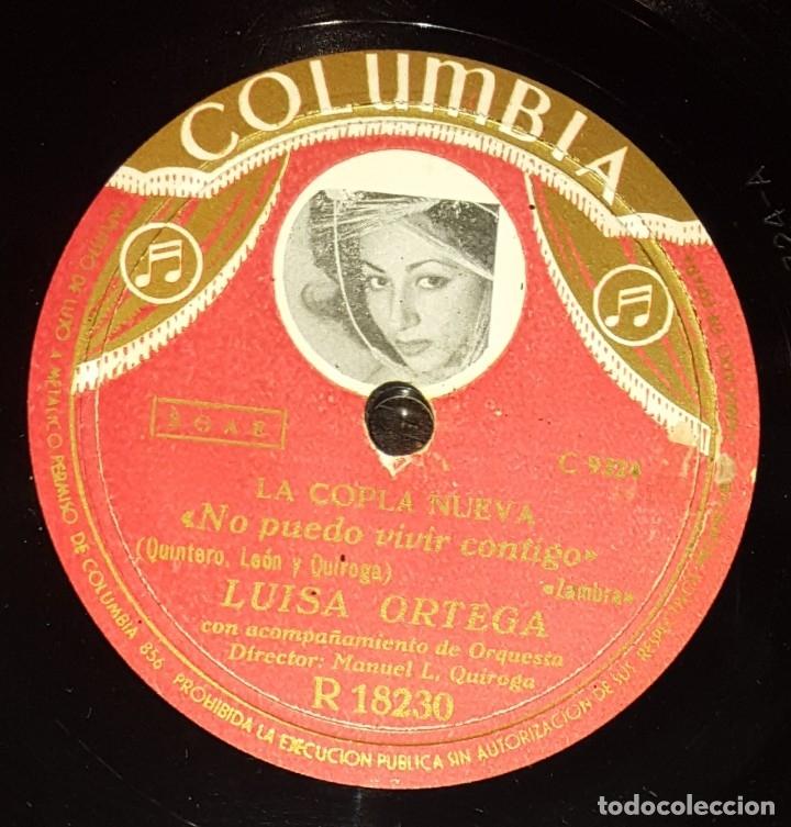 Discos de pizarra: DISCO 78 RPM - COLUMBIA - LUISA ORTEGA - LA COPLA NUEVA - ZAMBRA - NO PUEDO VIVIR CONTIGO - PIZARRA - Foto 2 - 182264502