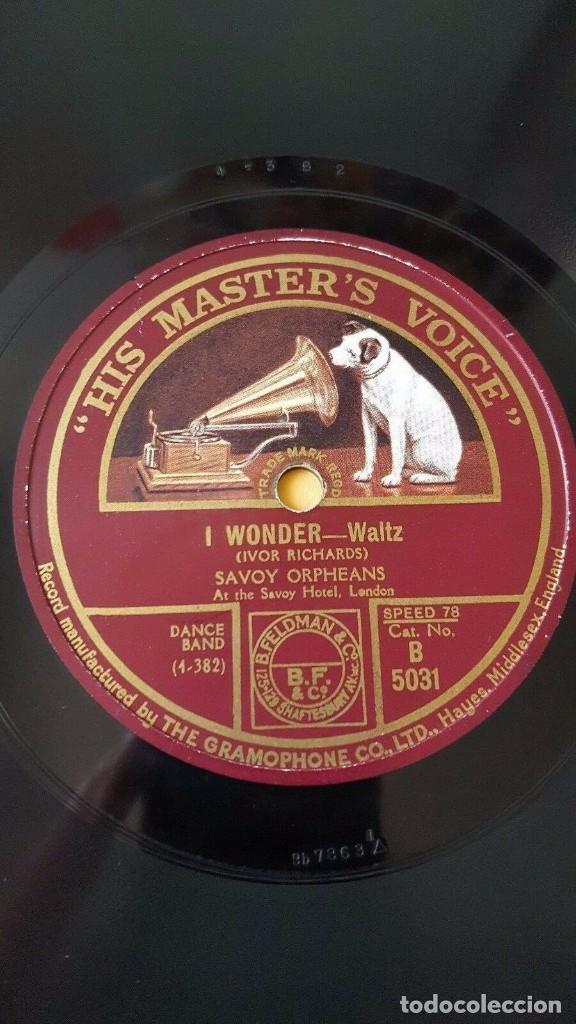 DISCO 78 RPM - HMV - SAVOY ORPHEANS - SAVOY HAVANA BAND - I WONDER - JUST DRIFTING - JAZZ - PIZARRA (Música - Discos - Pizarra - Jazz, Blues, R&B, Soul y Gospel)
