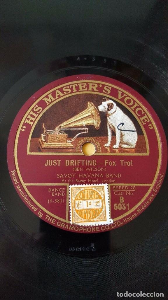 Discos de pizarra: DISCO 78 RPM - HMV - SAVOY ORPHEANS - SAVOY HAVANA BAND - I WONDER - JUST DRIFTING - JAZZ - PIZARRA - Foto 2 - 182359450