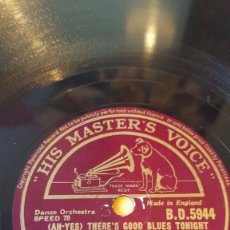Discos de pizarra: DISCO 78 RPM - HMV - TOMMY DORSEY - CLAMBAKE SEVEN - THERE´S NO ONE BUT YOU - DANCE - PIZARRA. Lote 182360365