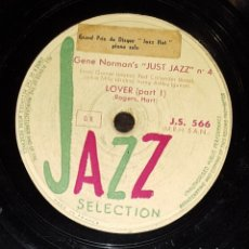 Discos de pizarra: DISCO 78RPM - JAZZ SELECTION - GENE NORMAN´S - JUST JAZZ - LOVER - ROGERS - HART - FRANCIA - PIZARRA. Lote 182368473