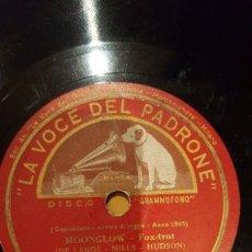 Discos de pizarra: DISCO 78 RPM - LA VOCE DEL PADRONE - ARTIE SHAW - ORQUESTA - MOONGLOW - MY BLUE HEAVEN - PIZARRA. Lote 182369931
