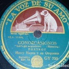 Discos de pizarra: DISCO 78 RPM - VSA - HARRY HAYES - ORQUESTA - CONOZCAMONOS - ALTO REVERIE - FOXTROT - PIZARRA. Lote 182373266
