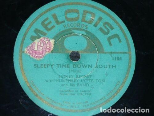 Discos de pizarra: DISCO 78 RPM - MELODISC - SIDNEY BECHET - HUMPHREY LYTTELTON - ORQUESTA - WHO´S SORRY NOW - PIZARRA - Foto 2 - 182375681
