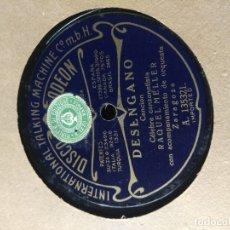 Discos de pizarra: DISCO DE PIZARRA :RAQUEL MELLER : DESENGAÑO + LA APACHE. Lote 182587232