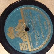 Discos de pizarra: DISCO DE PIZARRA : LUIS ROVIRA Y SU ORQUESTA + ORQUESTA GRAN CASINO . Lote 182590605