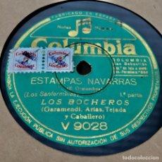 Discos de pizarra: LOS BOCHEROS ESTAMPAS NAVARRAS. Lote 182598848