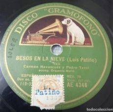 Discos de pizarra: DISCO DE PIZARRA. CARMEN NAVASCUES Y PEDRO TEROL. CANCIÓN FOX Y VALS . Lote 182748968
