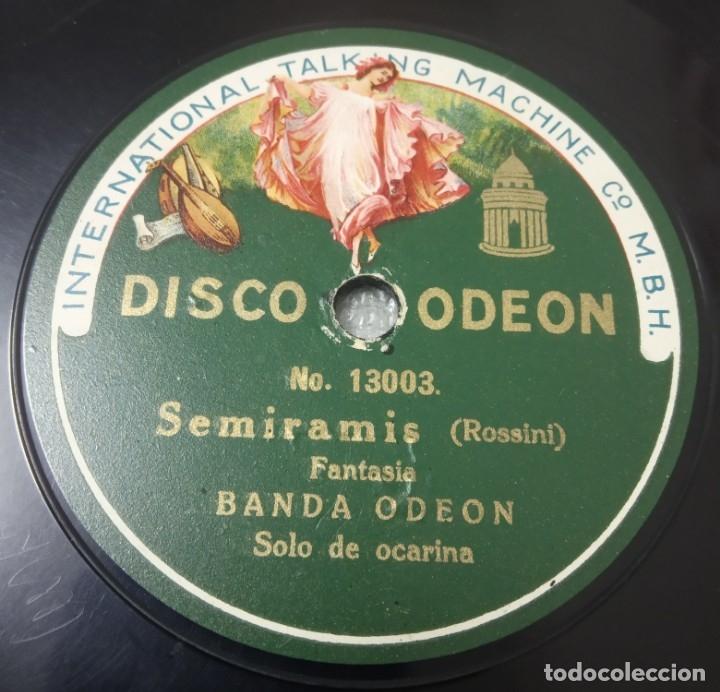 DISCO DE PIZARRA. BANDA ODEÓN. SOLO DE OCARINA SEMIRAMIS ROSSINI / DANUBIO AZUL (Música - Discos - Pizarra - Solistas Melódicos y Bailables)