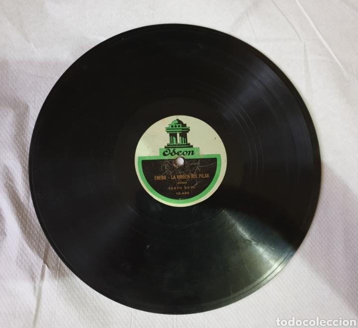 DISCO DE PIZARRA JOTAS LA VIRGEN DEL PILAR (Música - Discos - Pizarra - Flamenco, Canción española y Cuplé)